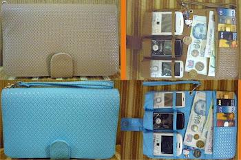 WHPO Coklat ( ready) dan Biru(sold out)  motif anyaman  Ready (Glossy/ mengkilat)