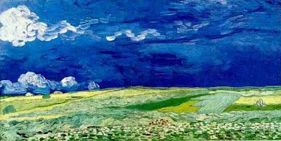 Wheatfield under clouded sky - Van Gogh