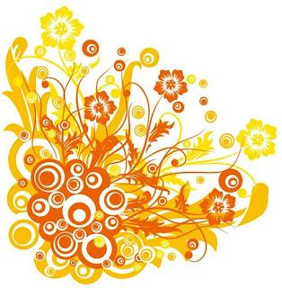 Flori si cerculete portocalii