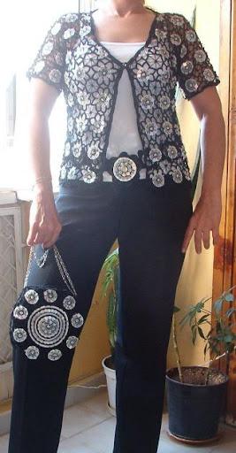 tığ işi bayan hırka ve çanta modelleri
