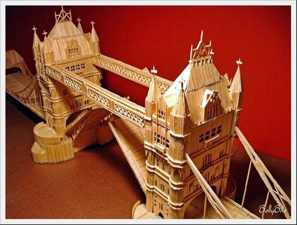 Toothpick+Art+%284%29 Bangunan Yang Diperbuat Daripada Pencungkil Gigi
