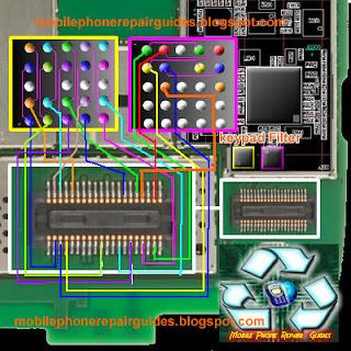 nokia e73 keypad IC jumper ways