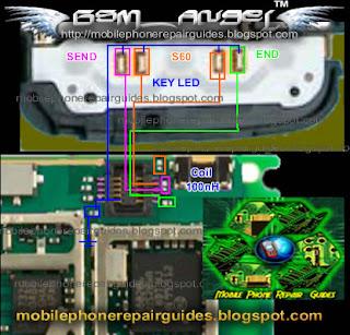 5230 keypad backlight jumper repair picture