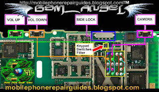 nokia 5230 Volume control switch jumper ways