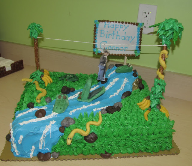 3D Cake Decorating A jungle birthday cake