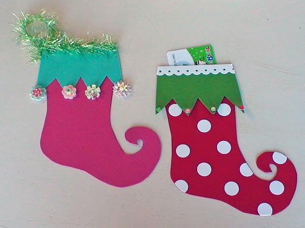 Christmas Stocking GIFT CARD HOLDER