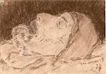 Jules Verwest op zijn sterfbed