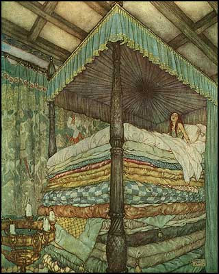 The Princess and the Pea - Edmund Dulac