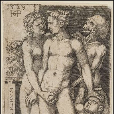 Hans Sebald Beham - Morte e o par indecente