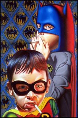 Ron English - Batman and Robin