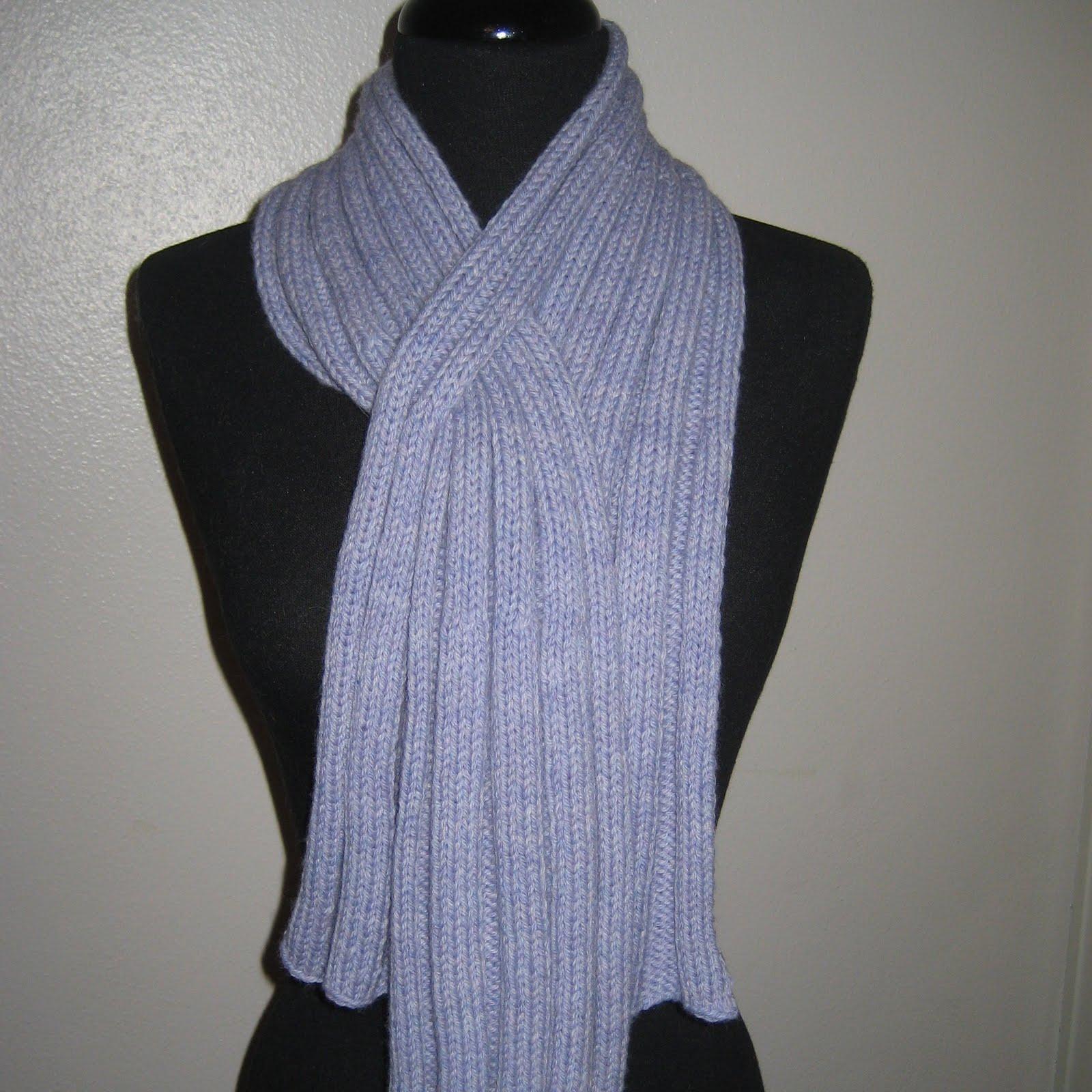 Knit Keyhole Scarf Pattern : Absolute Knits: Ribbed Keyhole Scarf