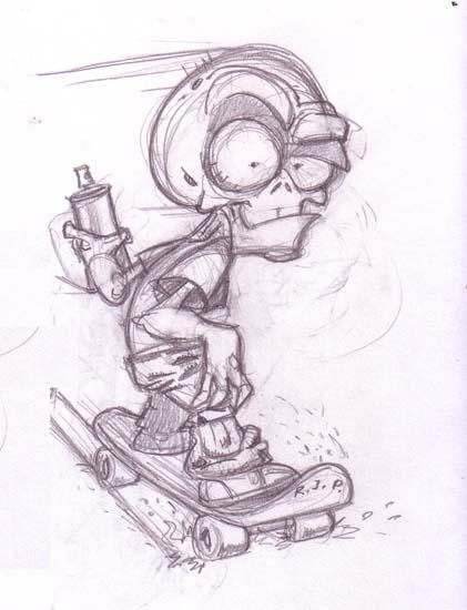 Dibujantes Cordobeses: Calavera Cartoon- Josue Velasquez