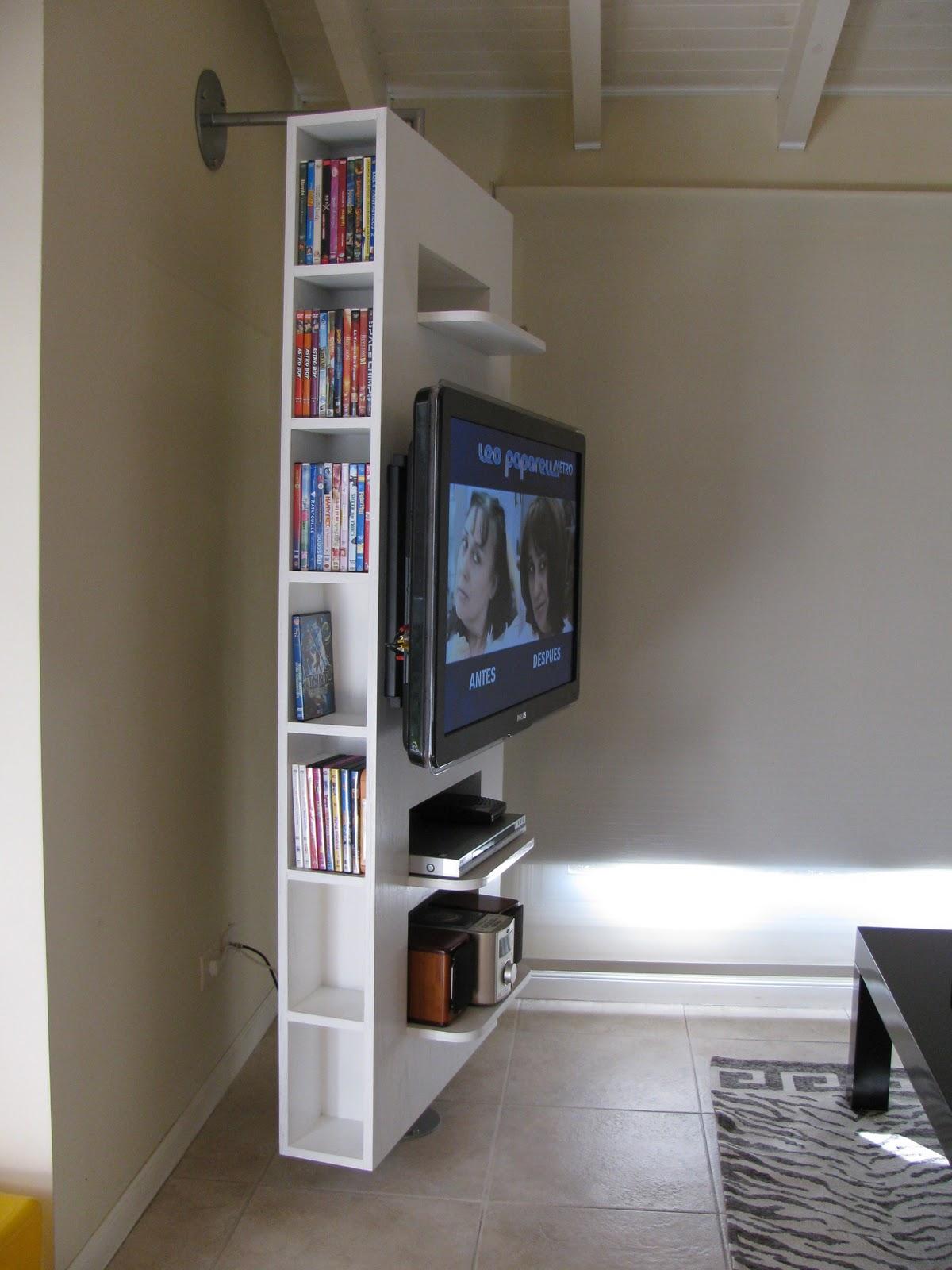 soportes design mueble giratorio
