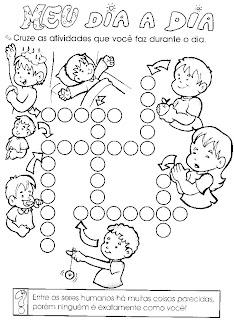 CRUZADINHAS DE ALFABETIZAÇÃO para crianças