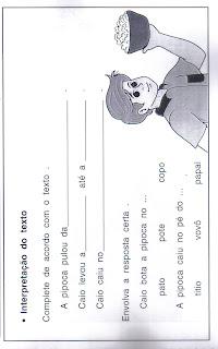 leitura17 CADERNO DE LEITURA para crianças