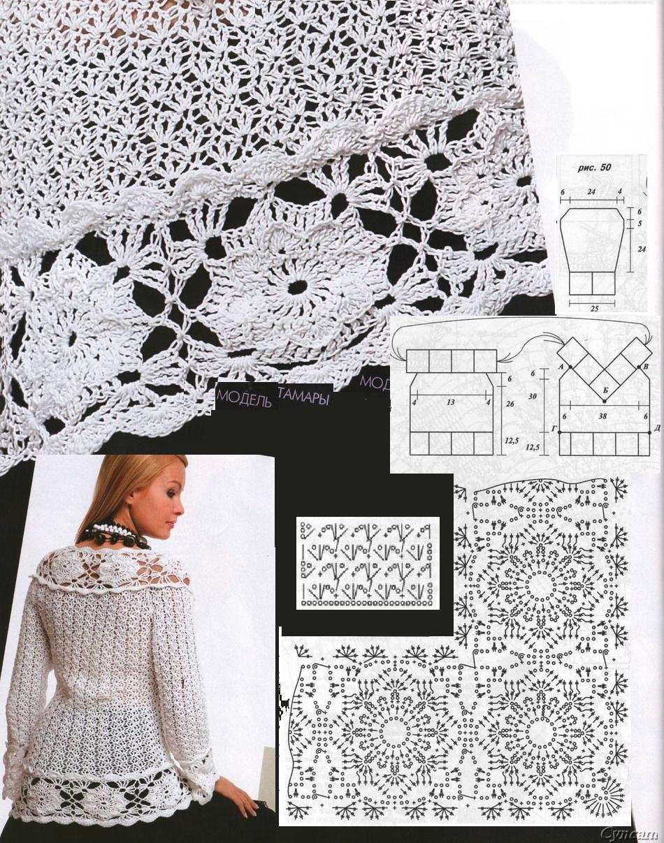 Famoso Patrón De Crochet Blusa Colección de Imágenes - Manta de ...