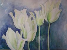 """tulpen """"spring green"""" aquarel"""