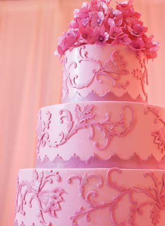 happy birthday pink cake