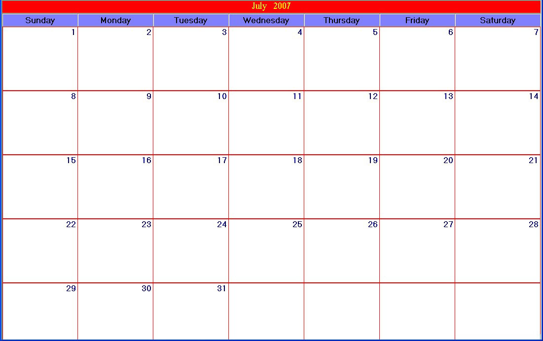 30 Days Calendar Template Militaryalicious