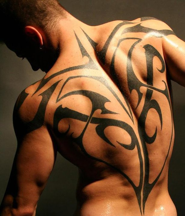 Back Tribal Tattoo for men This is one of the best and popular tattoo in