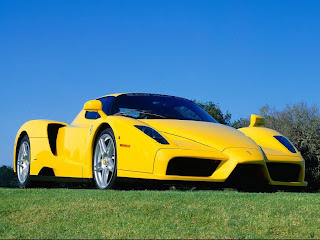Jet Ferrari yellow supercar wallpapper