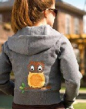 owl applique hoodie from SewingIdeas