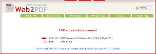 WEB2PDF kini sudah menambah Fasilitas