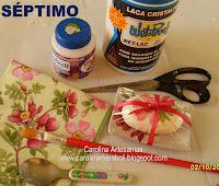 Jabon en barra decorado con decoupage de Servilleta