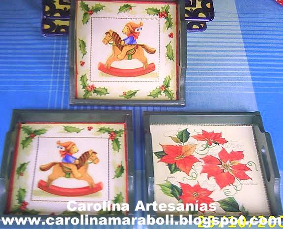 Vitrina de carolina artesan as la tienda 23 bandejas for Bandejas de navidad