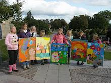 Altertavle og billedskolebørn i Gjøl