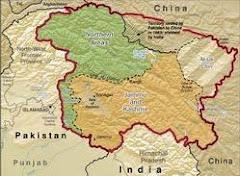 Mapa de Cachemira.