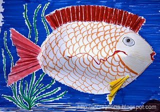 Inna's Creations: Easy three-dimensional paper craft fish