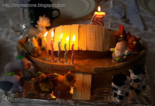 Noah's Ark with Candles