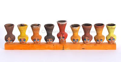 Hanukiah with jugs