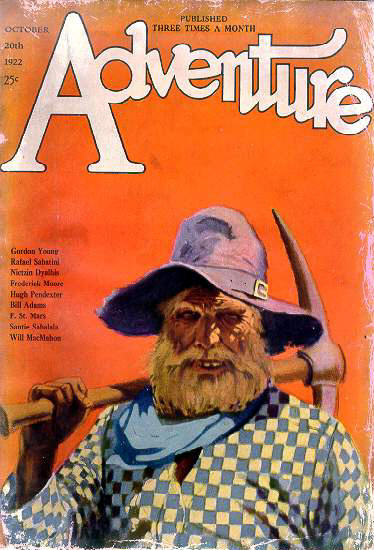 Cover of Adventure, October 20, 1922 (courtesy Laurie Powers' Wild West Blog)
