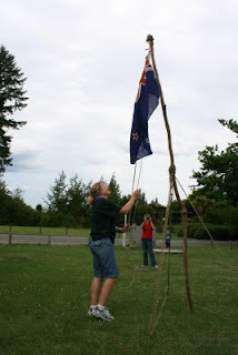Flag break at Camp