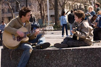 August Rush and his father play dueling guitars