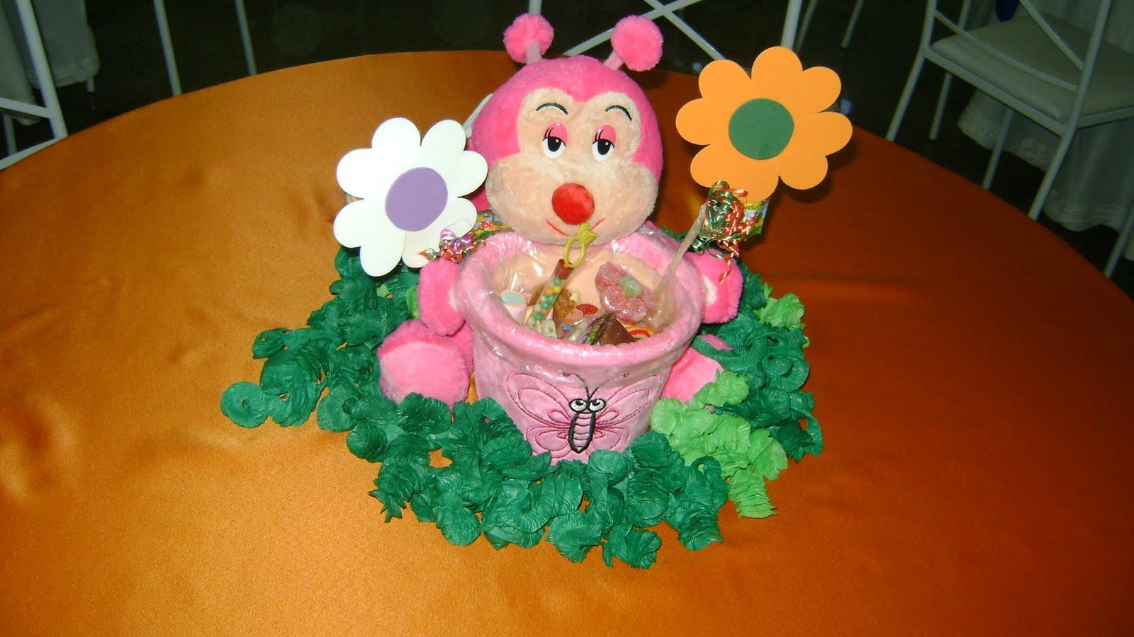 enfeite de mesa aniversario jardim encantado: ENFEITES INFANTIS: Enfeite de Mesa – Tema Jardim Encantado – R$ 45,00