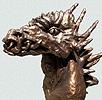 scultura busto drago terracotta