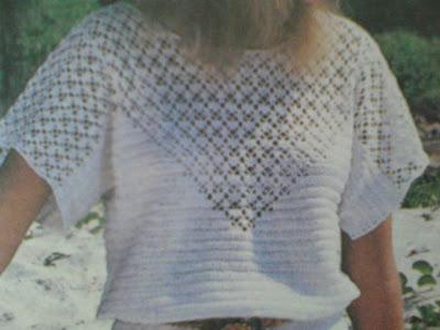 Açıklamalı Kısa Kollu Tığ İşi Bluz Modeli