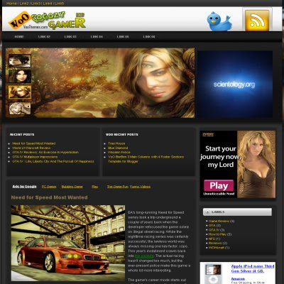 Voo THEME_NAME Theme for Blogger