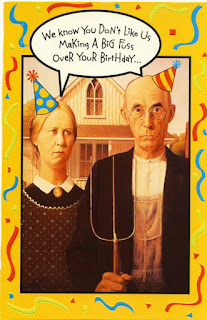American Gothic Parodies American Gothic Birthday Card