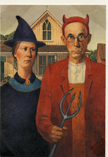 American Gothic Halloween Card