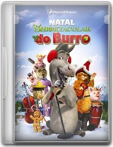 Capa Natal Shrektacular do Burro   DVDRip   Dublado