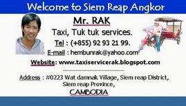 Rak's name card