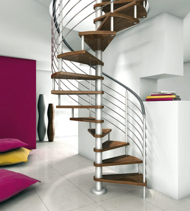Architecture homes creative and beautiful stairs for your for Spiral stair design