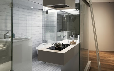 Small Apartment With Compact Bathroom Interior Design
