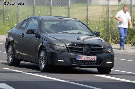 The C-Class coupe will replace the aging CLC in Mercedes range in 2011.