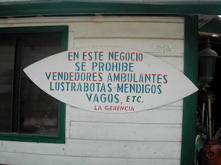 No beggars, La Ceiba, Honduras