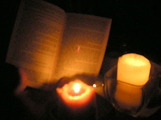 reading by candlelight, Honduras